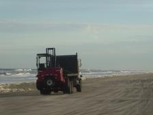A little beach traffic...