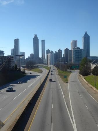 The same view from Atlanta's Jacskon Street Bridge
