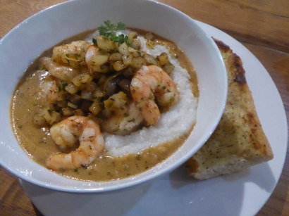 Shrimp and grits back in the land of the living.