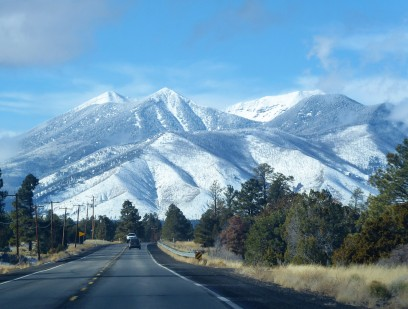 The gorgeous San Francisco Peaks, Flagstaff, Arizona