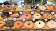 Union Square Donuts... the pomegranate is in the imiddle!