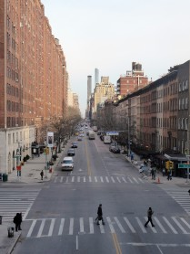 View looking east from the Highline -an elevated walkways and park on the west side through Chelsea