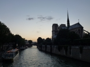 Dusk along the Seine
