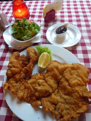 Wiener Schnitzel at Wiener Wiaz Haus