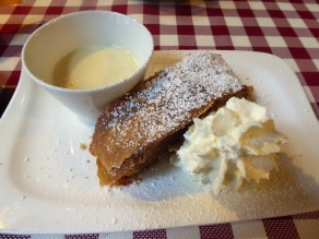 You can't visit Vienna without sampling the apple strudel...