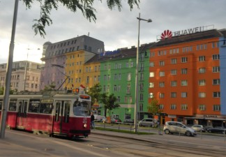 A colorful street in Vienna
