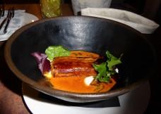 Hortobágyi pancake with chicken paprikash filling