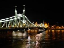 The Liberty Bridge looking toward the Buda side of the city