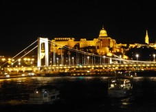 Elizabeth Bridge, and the Palace and Mathias Church up on the hills of Buda
