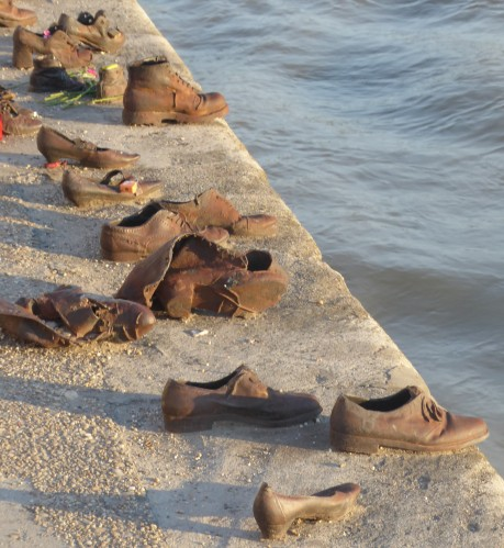 An eerie tribute...Shoes on the Danube