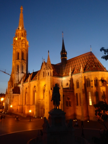 Mathias Church by night
