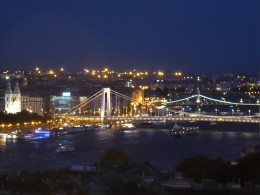 View of the Elizabeth and Liberty Bridges from the fortress