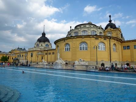 The pool at Széchenyi Thermal Bath