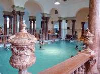One of the many indoor pools at the spa