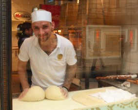 The man behind the chimney cakes at Molinar