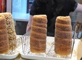 Cinnamon Chimney Cakes, filled with ice cream...