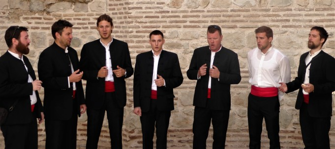 A group of traditional Klapa singers
