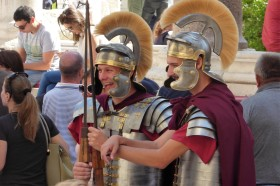 Would love to know what these Roman soldiers found so funny...