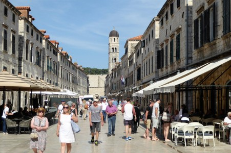 A much less crowded moment of the Stradun