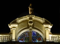 St. Blaise Church at night