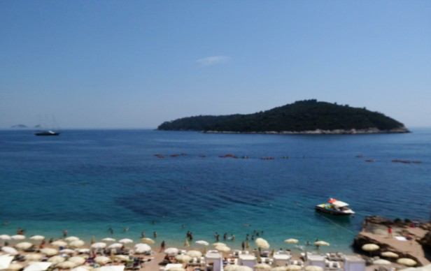 Banje Beach and Lokrum Island