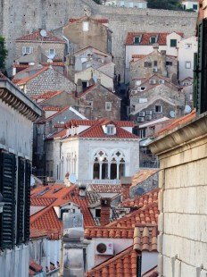The red tile roofs of Dubrovnik