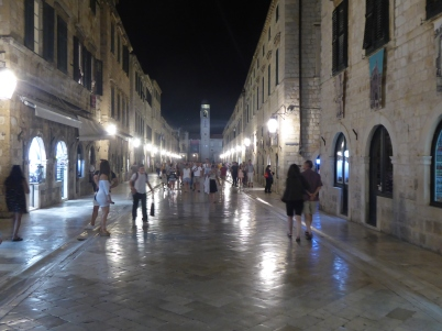 A blessedly quiet Stradun at night