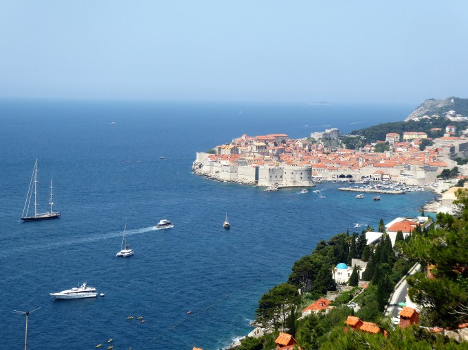 First glimpse of Dubrovnik