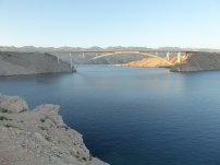 The bridge connecting Pag to the mainland