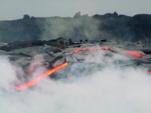 Lava flows near Kalapana on the Big Island, back in 2009