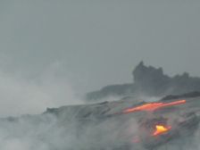 2009 Close encounter with lava flows