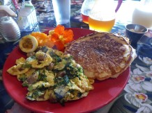 Spinach & Feta Frittata at Pele's Kitchen