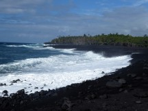 A new black sand beach was born in 2018