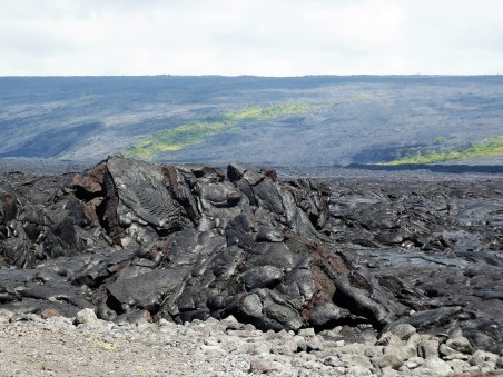 The vast expanse of lava fields between Kalapana and the Pu'u O'o Vent
