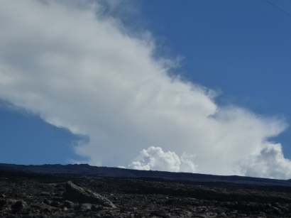 An ominous sight at the summit of Mauna Loa