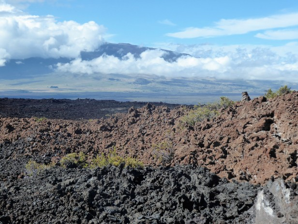 Looking at Mauna Kea from the slopes of Mauna Loa