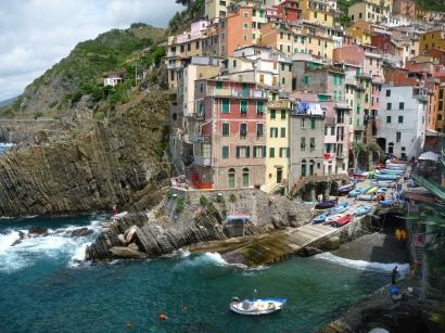 Fall plans: the village of Riomaggiore, in Italy's Cinque Terre region