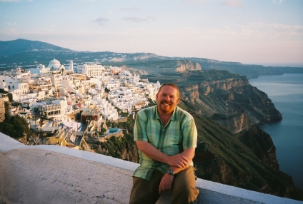Leaving Fira, bound for Oia