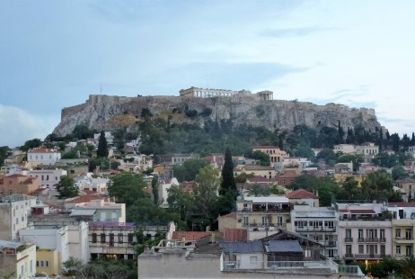 View of the Plaka and the Acropolis from Plaka Hotel