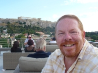 At the Hotel Plaka's Rooftop Bar
