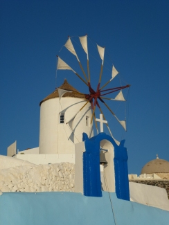 The old windmill at Oia