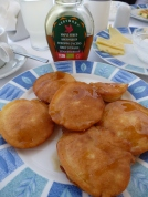 Amazing Greek pancakes; who'd have guessed?