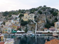 "The steep streets"" of Symi"