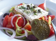 A traditional Greek Salad