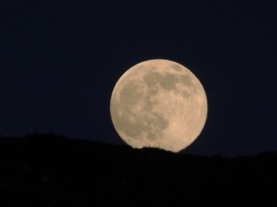 And not to be outdone, moonrise on Santorini