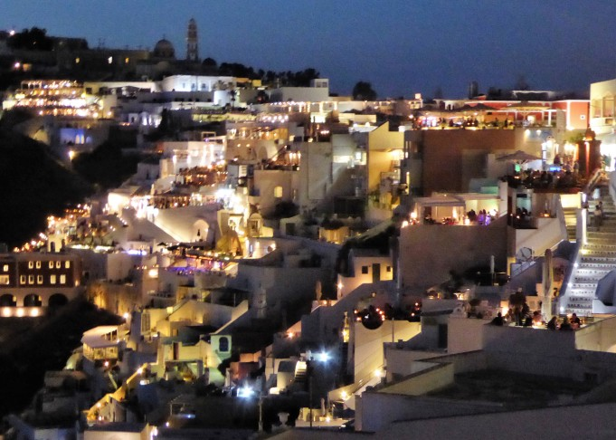 The lights of Fira