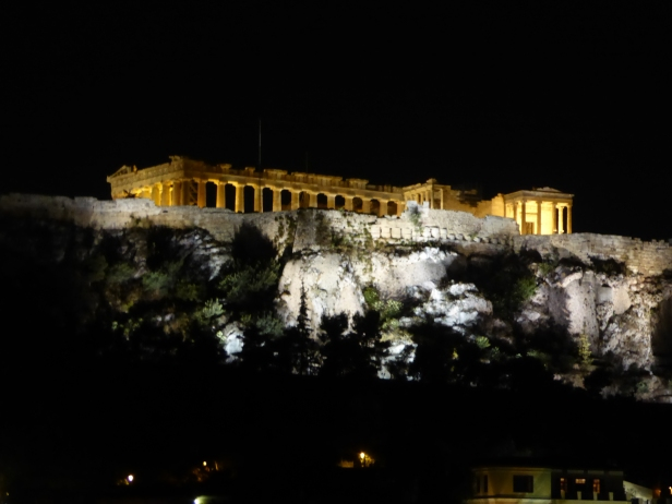 View of the Acropolis by night