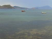 A moody Aegean sea...