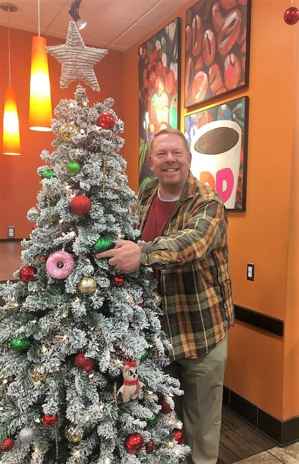 Embracing the Christmas spirit at Dunkin' Donuts in Massachusetts