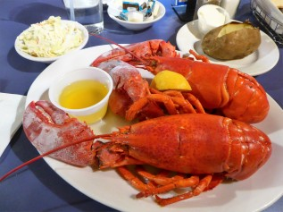 Dinner in Maine... cliched, but delicious!